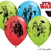 "11"" / 28cm Star Wars: The Last Jedi Asst of Red, Lime Green, Robin's Egg Blue Qualatex #55507-1"