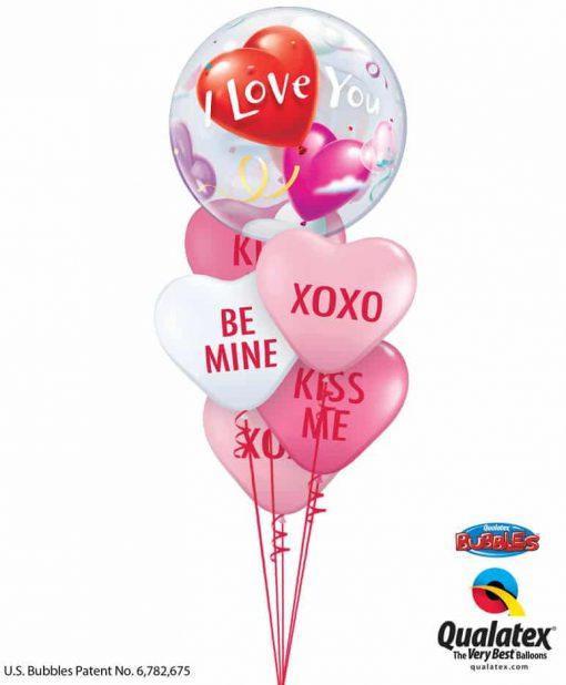 Bukiet 806 Hugs, Kisses and Valentine Wishes! Qualatex #16676 97266-5