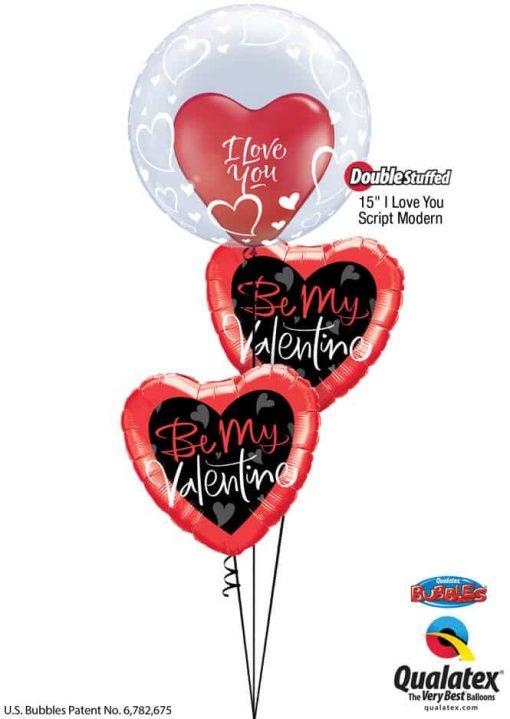 """Bukiet 772 """"Be Mine"""" Valentine Qualatex #29505 29005 78537-2"""