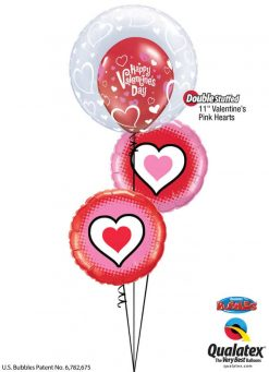 Bukiet 774 Happy Valentine's Hearts Qualatex #29505 23407 78545-2