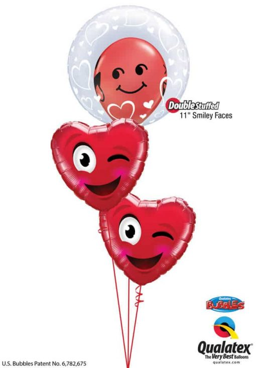 Bukiet 801 Sly Valentine's Smiles Qualatex #29505 85705-1 78549-2