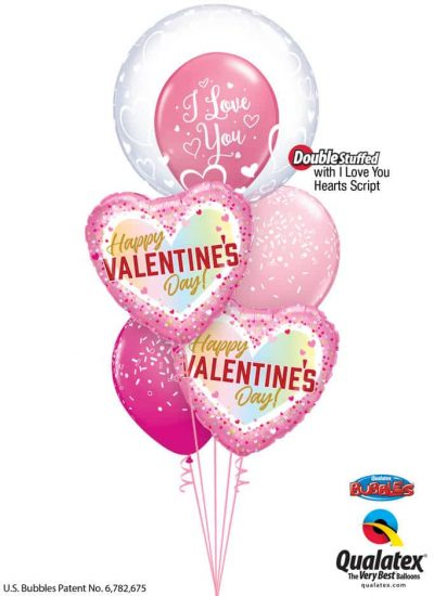Bukiet 831 Love is in the Air Qualatex #29505 97162-2 57055-1