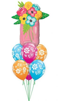 Bukiet 880 Mason Jar Bouquet Qualatex #47583 41873-6