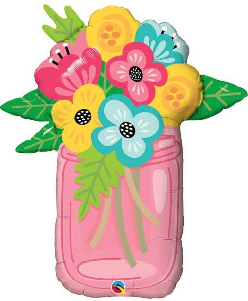 """36"""" / 91cm Mason Jar Bouquet Qualatex #47583"""