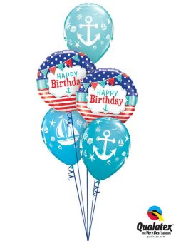 Bukiet 771 Anchors Away Birthday Qualatex #49178-2 44796-3
