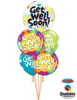 Bukiet 768 Colorful Get Well Qualatex #49337 49206-2 50204-3