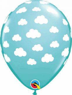 "11"" / 28cm Clouds Caribbean Blue Qualatex #53436-1"