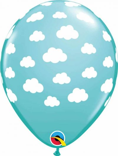 "11"" / 28cm Clouds Caribbean Blue Qualatex #53436-1"