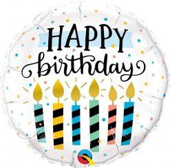 18″ / 46cm Birthday Candles & Dots Qualatex #57289