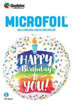 18″ / 46cm Happy Birthday To You Rainbow Cake Qualatex #57298