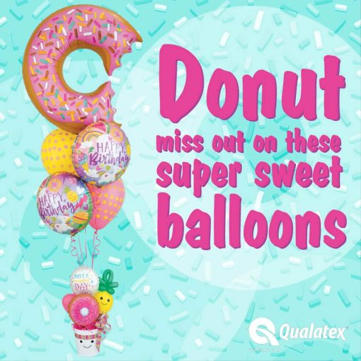 36″ / 91cm Bit Donut & Sprinkles Qualatex #57357