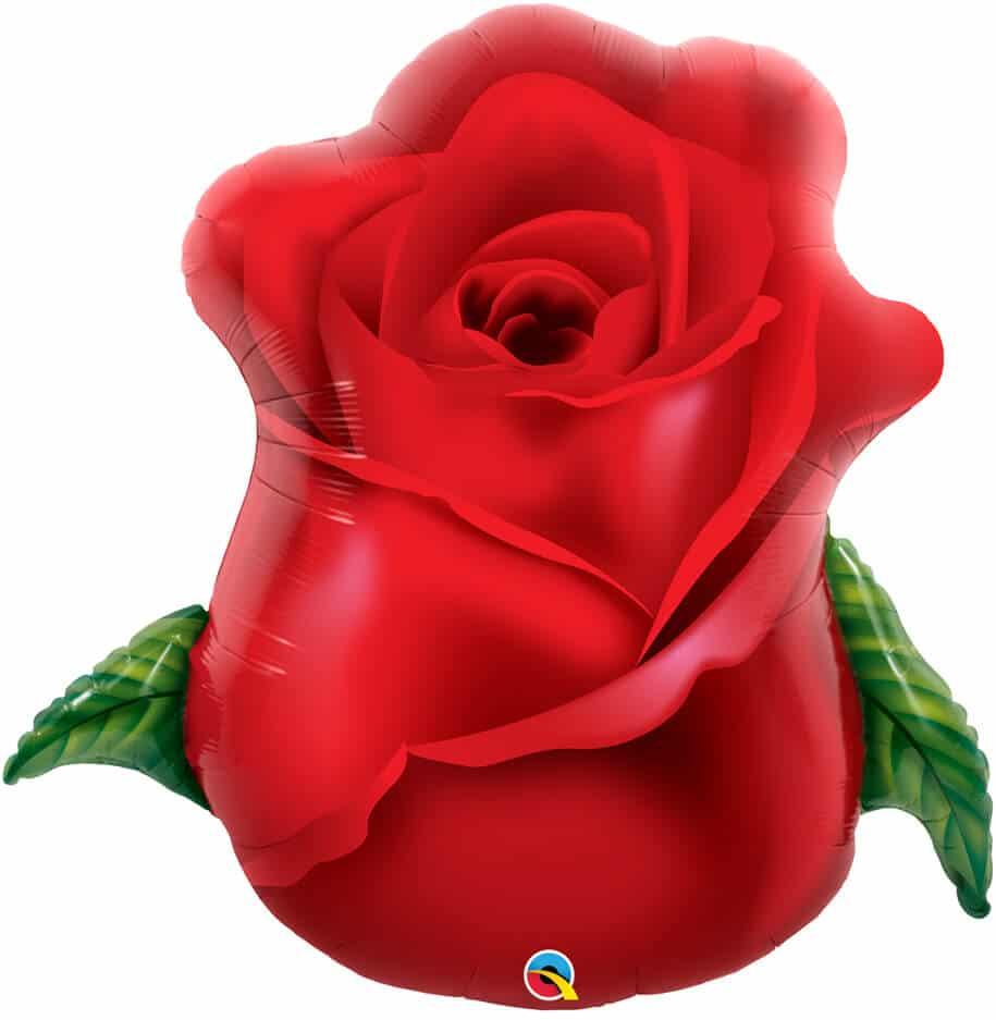 33″ / 84cm Red Rose Bud Qualatex #98696