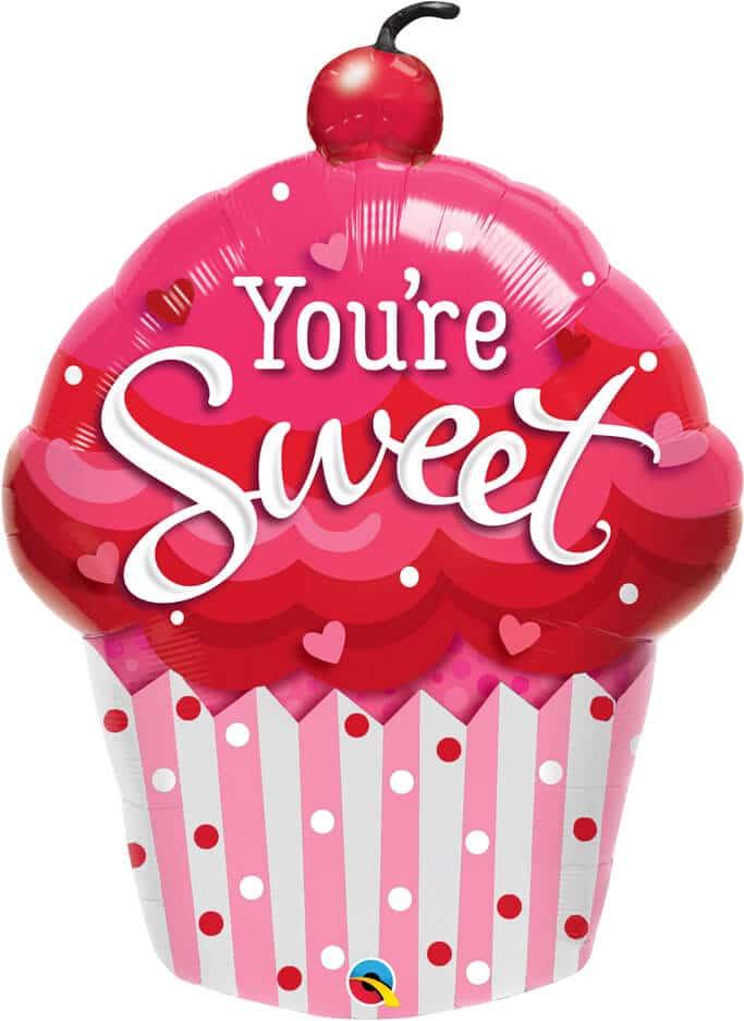 35″ / 89cm You're Sweet Cupcake Qualatex #98699