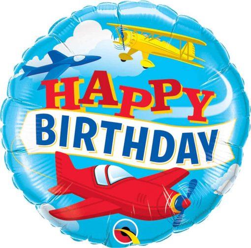 18″ / 46cm Birthday Airplanes Qualatex #57796