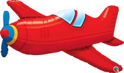 36″ / 91cm Red Vintage Airplane Qualatex #57811