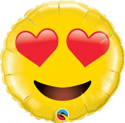 28″ / 71cm Smiley Face With Heart Eyes Qualatex #97541