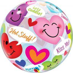 22″ / 56cm Conversation Smiley Hearts Qualatex #78466