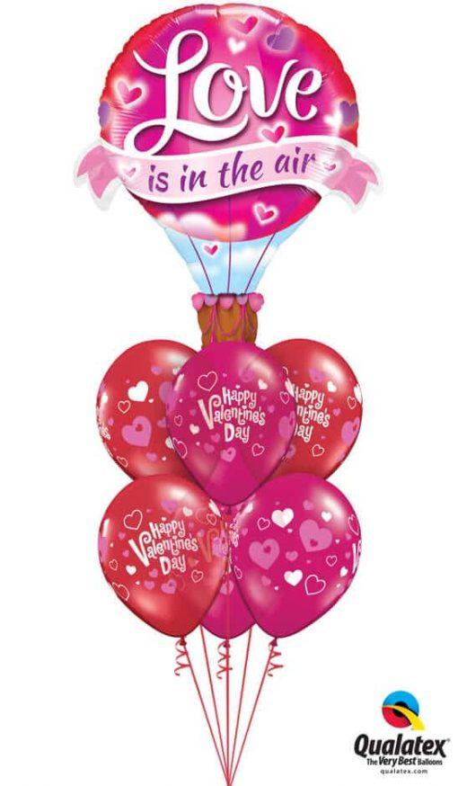 Bukiet 809 Ruby Red & Jewel Magenta Love Balloon Qualatex #78529 23407-6