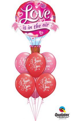 "Bukiet 822 Red & Rose ""I Love You"" Balloon Qualatex #78529 57055-6"