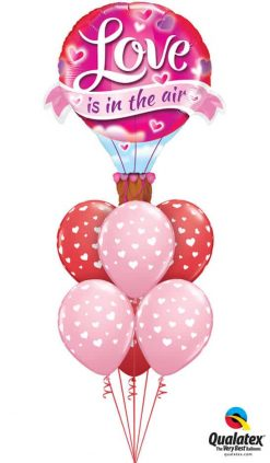 Bukiet 814 Pink & Red Hearts in the Air Qualatex #78529 85713-6