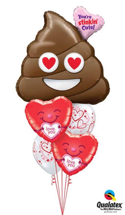 Bukiet 787 Stinkin' Cute Hearts Qualatex #78531 21823-2 21823-2