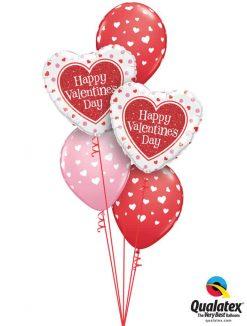 "Bukiet 782 ""Happy Valentine's Day"" Hearts Abounding Qualatex #78535-2 85713-3"
