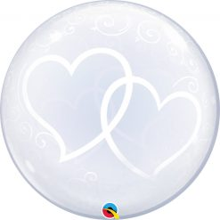 24″ / 61cm Deco Bubble Entwined Hearts Qualatex #84696