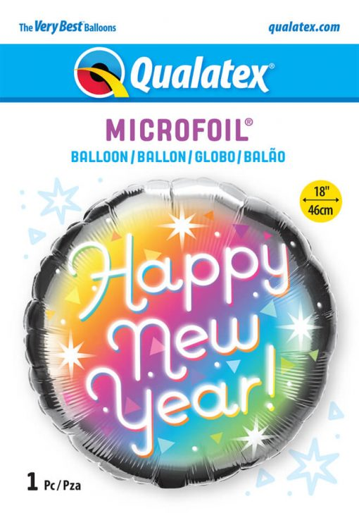 18″ / 46cm New Year Prismatic Qualatex #89882
