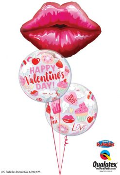 Bukiet 843 Pucker Up, Valentine! Qualatex #16451 97137-2