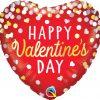 """18"""" / 46cm Valentine's Confetti Red Qualatex #97165"""