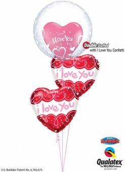 Bukiet 834 It's Simple, I Love You! Qualatex #29505 57055-1 97174-2