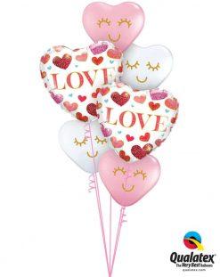 Bukiet 868 Love at First Sight! Qualatex #97185-2 97147-4