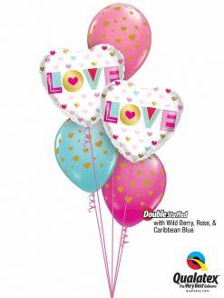 Bukiet 866 You Stole My Heart! Qualatex #97188-2 85706-3 43791-1 50322-1 25572-1