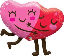 36″ / 91cm Hugging Hearts Qualatex #97254