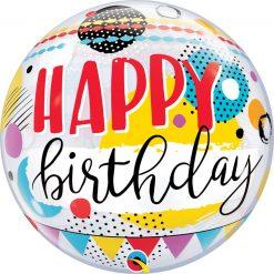 """22"""" / 56cm Birthday Circles & Dot Patterns Qualatex #10052"""