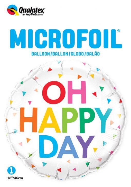 18″ / 46cm Oh Happy Day Rainbow Confetti Qualatex #10200