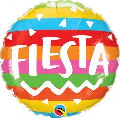 18″ / 46cm Fiesta Rainbow Stripes Qualatex #10244