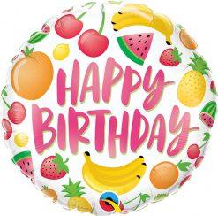 "18"" / 46cm Birthday Fruits Qualatex #10264"