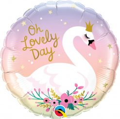 18″ / 46cm Oh Lovely Day Swan Qualatex #10371