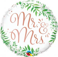 18″ / 46cm Mr. & Mrs. Elegant Greenery Qualatex #10402