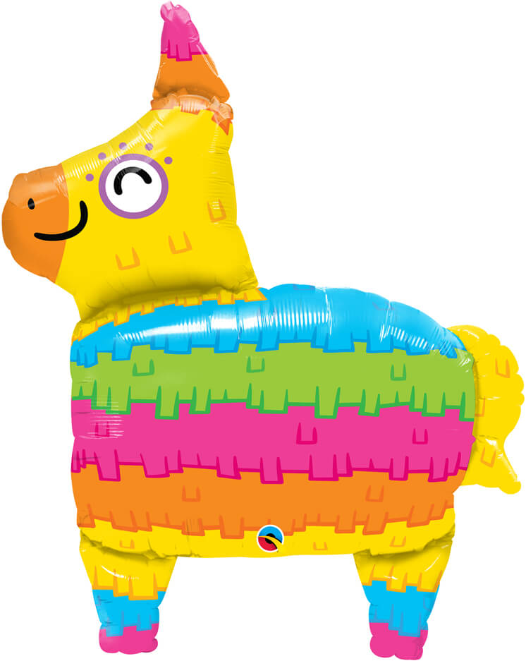 34″ / 86cm Rainbow Piñata Qualatex #10511
