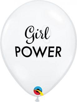 "11"" / 28cm Simply Girl Power Diamond Clear Qualatex #10620-1"