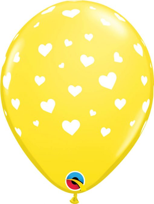 "11"" / 28cm Random Hearts-A-Round Pastel Asst Qualatex #11644-1"