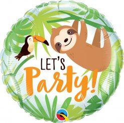 """18"""" / 46cm Let's Party Toucan & Sloth Qualatex #12259"""