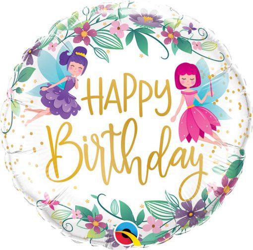 18″ / 46cm Birthday Wild Flower Fairies Qualatex #12263