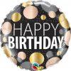 "18"" / 46cm Birthday Big Metallic Dots Qualatex #12268"
