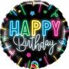"18"" / 46cm Happy Birthday Neon Glow Qualatex #12276"