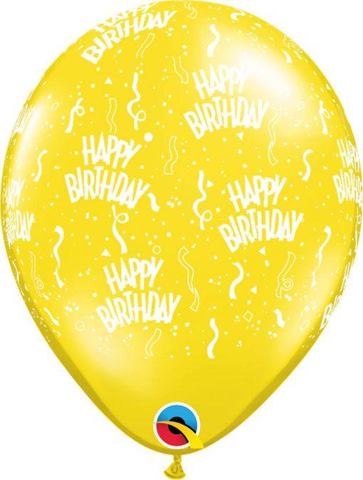 """11"""" / 28cm Birthday-A-Round Fantasy Asst Qualatex #12583-1"""