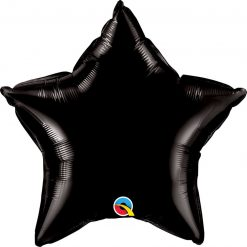 "20"" / 51cm Solid Colour Star Onyx Black Qualatex #12617"