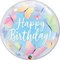 "22"" / 56cm Birthday Soft Butterflies Qualatex #13086"